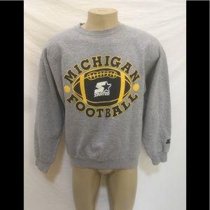 STARTER Sweaters - STARTER UNIV Of Michigan Sz XL Crewneck Sweatshirt